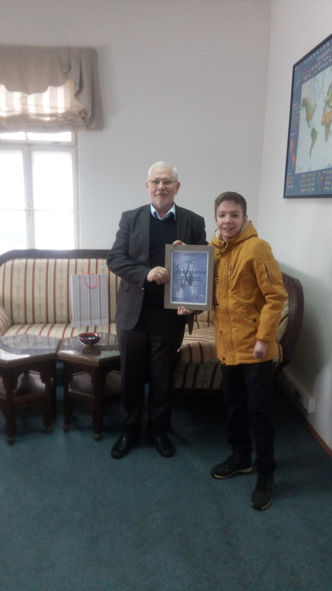 Zahvalnica – Ured za društvenu brigu Rijaseta IZ-e BiH